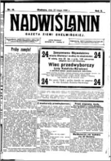 Nadwiślanin. Gazeta Ziemi Chełmińskiej, 1928.02.25 R. 10 nr 16