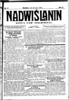 Nadwiślanin. Gazeta Ziemi Chełmińskiej, 1928.02.29 R. 10 nr 17