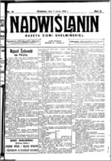 Nadwiślanin. Gazeta Ziemi Chełmińskiej, 1928.03.07 R. 10 nr 19