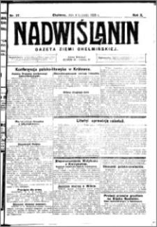 Nadwiślanin. Gazeta Ziemi Chełmińskiej, 1928.04.04 R. 10 nr 27
