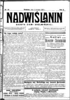 Nadwiślanin. Gazeta Ziemi Chełmińskiej, 1928.04.11 R. 10 nr 29