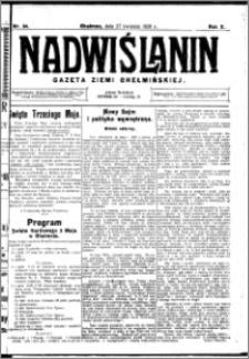 Nadwiślanin. Gazeta Ziemi Chełmińskiej, 1928.04.27 R. 10 nr 34