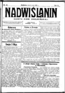Nadwiślanin. Gazeta Ziemi Chełmińskiej, 1928.05.02 R. 10 nr 35