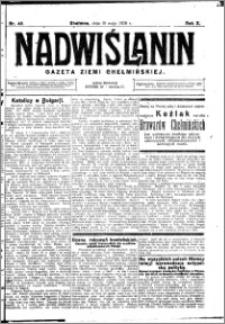 Nadwiślanin. Gazeta Ziemi Chełmińskiej, 1928.05.19 R. 10 nr 40