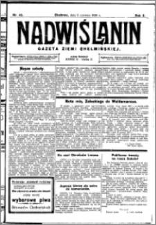 Nadwiślanin. Gazeta Ziemi Chełmińskiej, 1928.06.06 R. 10 nr 45