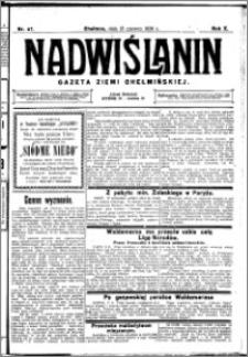 Nadwiślanin. Gazeta Ziemi Chełmińskiej, 1928.06.13 R. 10 nr 47