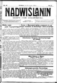 Nadwiślanin. Gazeta Ziemi Chełmińskiej, 1928.06.20 R. 10 nr 49