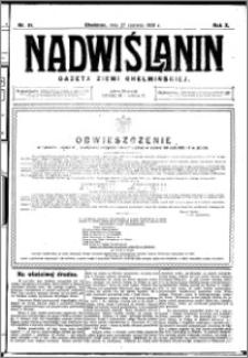 Nadwiślanin. Gazeta Ziemi Chełmińskiej, 1928.06.27 R. 10 nr 51