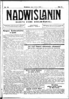 Nadwiślanin. Gazeta Ziemi Chełmińskiej, 1928.07.04 R. 10 nr 53