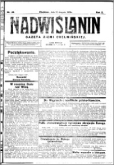 Nadwiślanin. Gazeta Ziemi Chełmińskiej, 1928.08.15 R. 10 nr 65