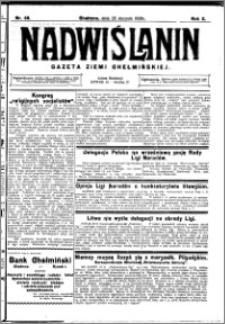 Nadwiślanin. Gazeta Ziemi Chełmińskiej, 1928.08.25 R. 10 nr 68