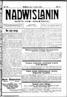 Nadwiślanin. Gazeta Ziemi Chełmińskiej, 1928.09.01 R. 10 nr 70