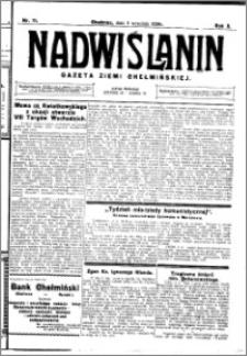 Nadwiślanin. Gazeta Ziemi Chełmińskiej, 1928.09.05 R. 10 nr 71