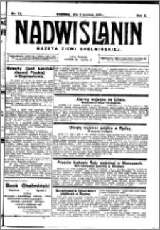 Nadwiślanin. Gazeta Ziemi Chełmińskiej, 1928.09.08 R. 10 nr 72