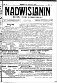 Nadwiślanin. Gazeta Ziemi Chełmińskiej, 1928.09.15 R. 10 nr 74