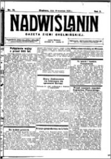 Nadwiślanin. Gazeta Ziemi Chełmińskiej, 1928.09.19 R. 10 nr 75