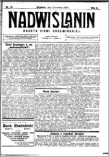 Nadwiślanin. Gazeta Ziemi Chełmińskiej, 1928.09.22 R. 10 nr 76
