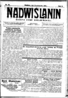Nadwiślanin. Gazeta Ziemi Chełmińskiej, 1928.10.20 R. 10 nr 84