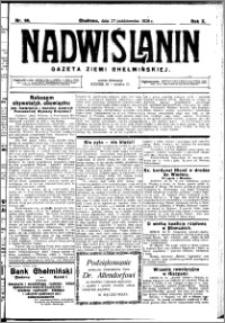 Nadwiślanin. Gazeta Ziemi Chełmińskiej, 1928.10.27 R. 10 nr 86