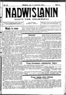 Nadwiślanin. Gazeta Ziemi Chełmińskiej, 1928.10.31 R. 10 nr 87