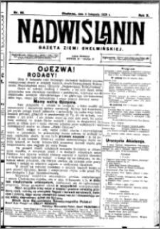 Nadwiślanin. Gazeta Ziemi Chełmińskiej, 1928.11.03 R. 10 nr 88