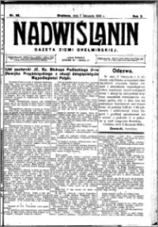 Nadwiślanin. Gazeta Ziemi Chełmińskiej, 1928.11.07 R. 10 nr 89