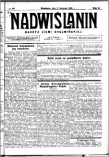 Nadwiślanin. Gazeta Ziemi Chełmińskiej, 1928.11.17 R. 10 nr 92