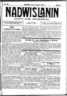 Nadwiślanin. Gazeta Ziemi Chełmińskiej, 1928.11.21 R. 10 nr 93