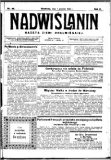 Nadwiślanin. Gazeta Ziemi Chełmińskiej, 1928.12.01 R. 10 nr 96