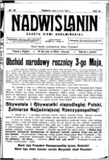 Nadwiślanin. Gazeta Ziemi Chełmińskiej, 1929.05.04 R. 11 nr 35