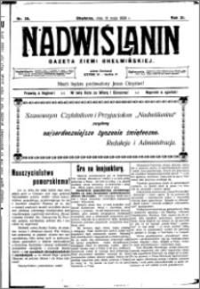 Nadwiślanin. Gazeta Ziemi Chełmińskiej, 1929.05.18 R. 11 nr 39
