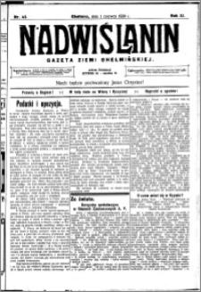 Nadwiślanin. Gazeta Ziemi Chełmińskiej, 1929.06.01 R. 11 nr 43