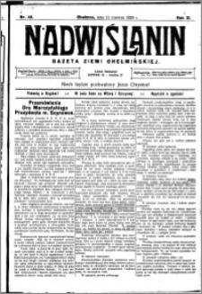 Nadwiślanin. Gazeta Ziemi Chełmińskiej, 1929.06.12 R. 11 nr 46