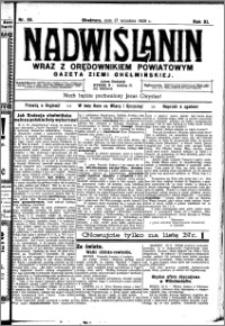 Nadwiślanin. Gazeta Ziemi Chełmińskiej, 1929.09.17 R. 11 nr 85