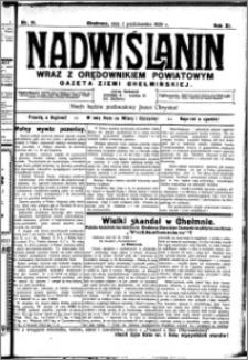 Nadwiślanin. Gazeta Ziemi Chełmińskiej, 1929.10.01 R. 11 nr 91