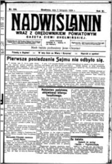 Nadwiślanin. Gazeta Ziemi Chełmińskiej, 1929.11.05 R. 11 nr 106