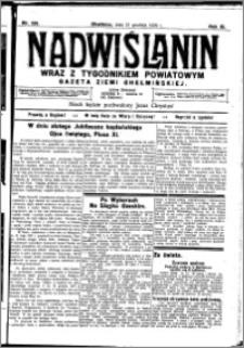 Nadwiślanin. Gazeta Ziemi Chełmińskiej, 1929.12.21 R. 11 nr 126