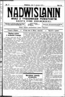 Nadwiślanin. Gazeta Ziemi Chełmińskiej, 1930.01.21 R. 12 nr 9