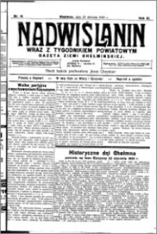 Nadwiślanin. Gazeta Ziemi Chełmińskiej, 1930.01.23 R. 12 nr 10
