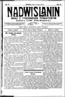 Nadwiślanin. Gazeta Ziemi Chełmińskiej, 1930.02.04 R. 12 nr 15