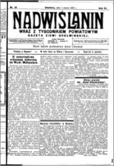 Nadwiślanin. Gazeta Ziemi Chełmińskiej, 1930.03.01 R. 12 nr 26