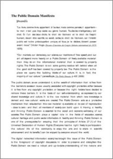 The Public Domain Manifesto