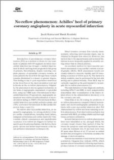 Now-reflow phenomenon: Achille's heel of primary coronary angioplasty in acute myocardial infarctioni