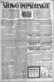 Słowo Pomorskie 1925.12.22 R.5 nr 296