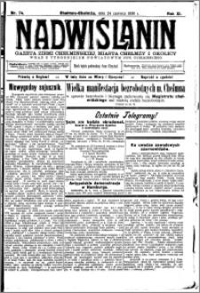 Nadwiślanin. Gazeta Ziemi Chełmińskiej, 1930.06.24 R. 12 nr 74