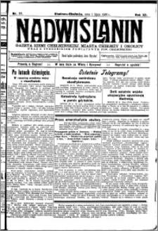 Nadwiślanin. Gazeta Ziemi Chełmińskiej, 1930.07.01 R. 12 nr 77