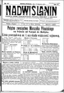 Nadwiślanin. Gazeta Ziemi Chełmińskiej, 1930.11.18 R. 12 nr 137