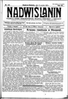 Nadwiślanin. Gazeta Ziemi Chełmińskiej, 1930.12.16 R. 12 nr 149