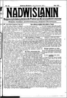 Nadwiślanin. Gazeta Ziemi Chełmińskiej, 1931.01.28 R. 13 nr 22