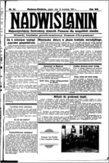 Nadwiślanin. Gazeta Ziemi Chełmińskiej, 1931.04.10 R. 13 nr 82